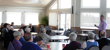 Dr. Kleinknecht at Seniors Association of St. Margaret's Bay