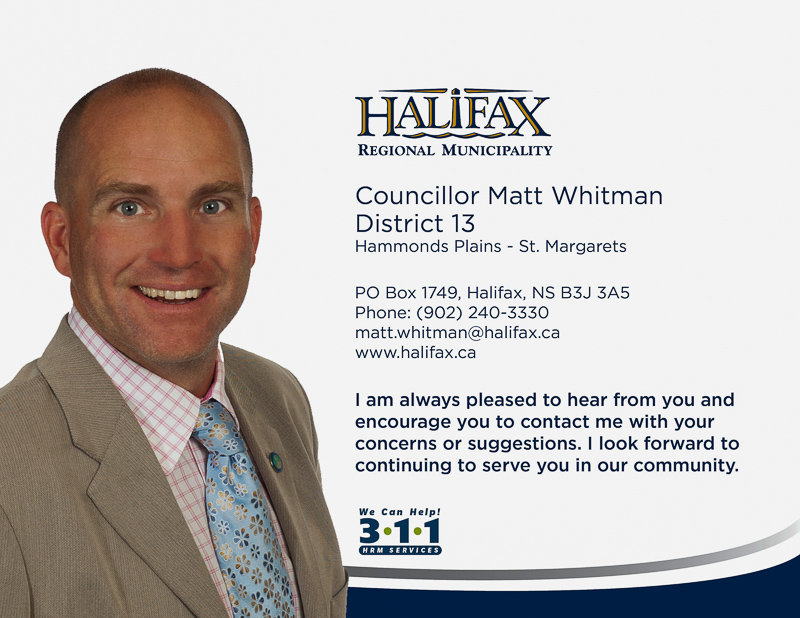 HRM Councillor Matt Whitman